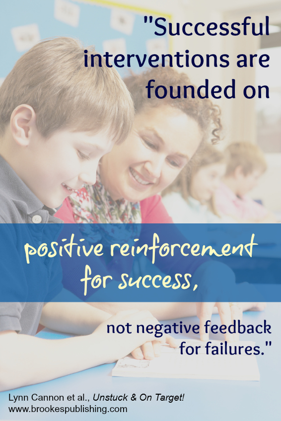 positive reinforcement quote by Lynn Cannon