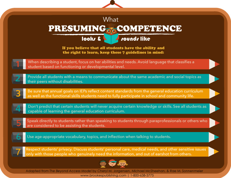 what presuming competence looks like