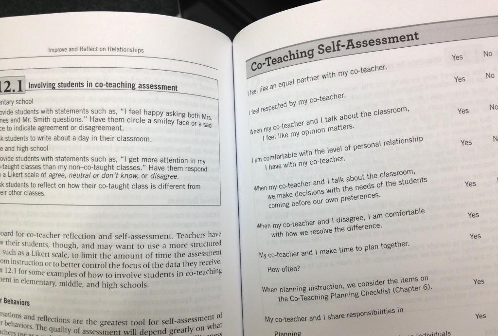 coteaching sample page