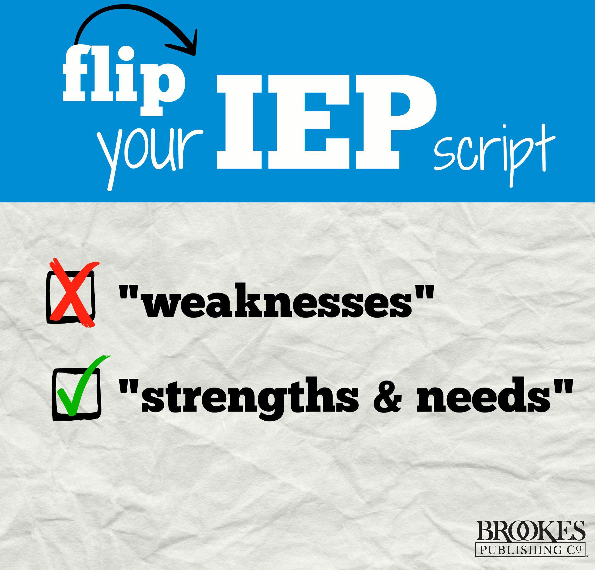 flip your IEP script