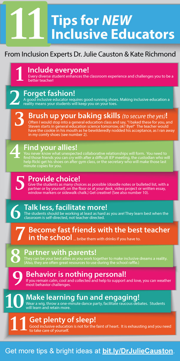 11 tips for new inclusive educators