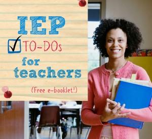 IEP to dos for teachers
