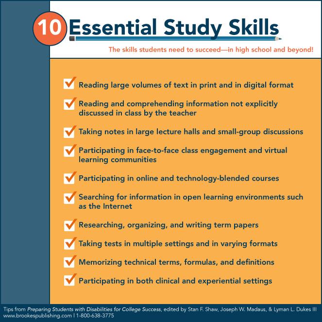 10 essential study skills