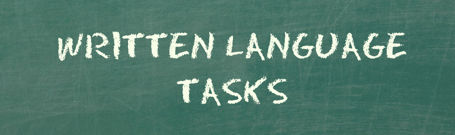 written language tasks