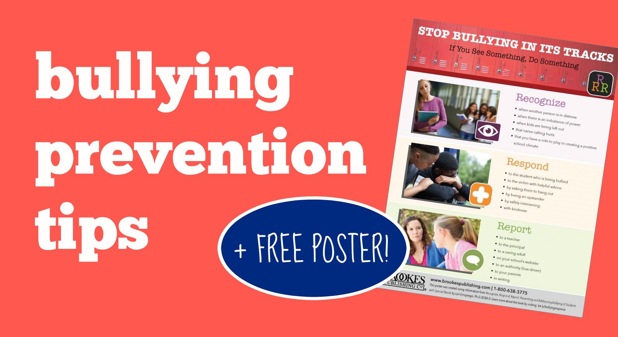 bullying prevention tips