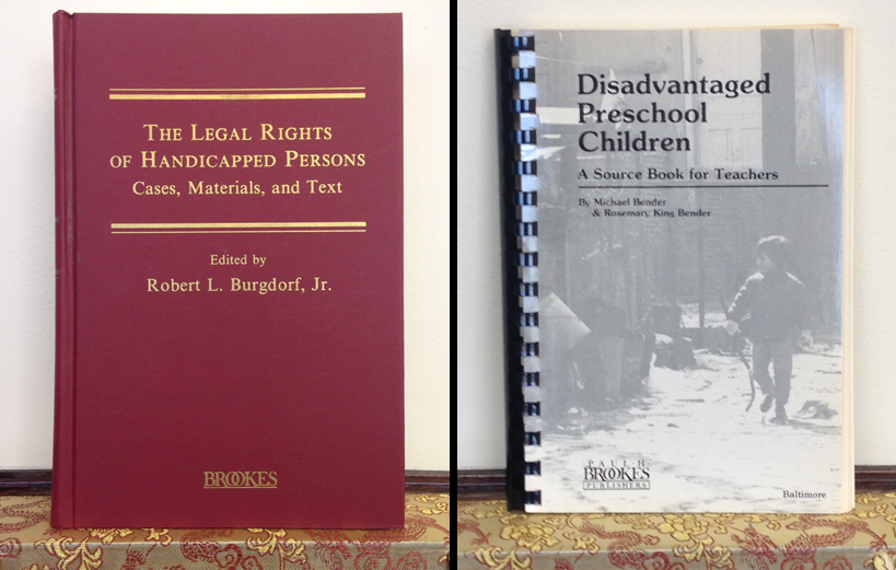 The Legal rights of handicapped persons Disadvantaged Preschool Children