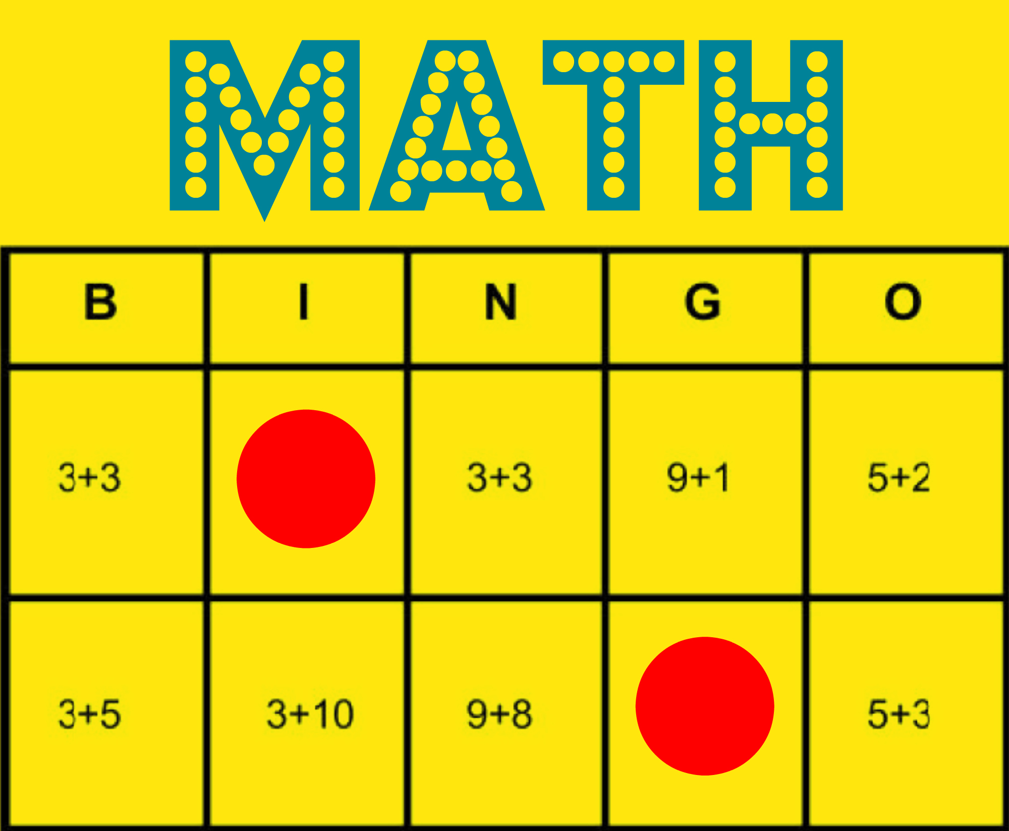 Math Bingo: Free Printable Game to Help All Students Learn Math ...