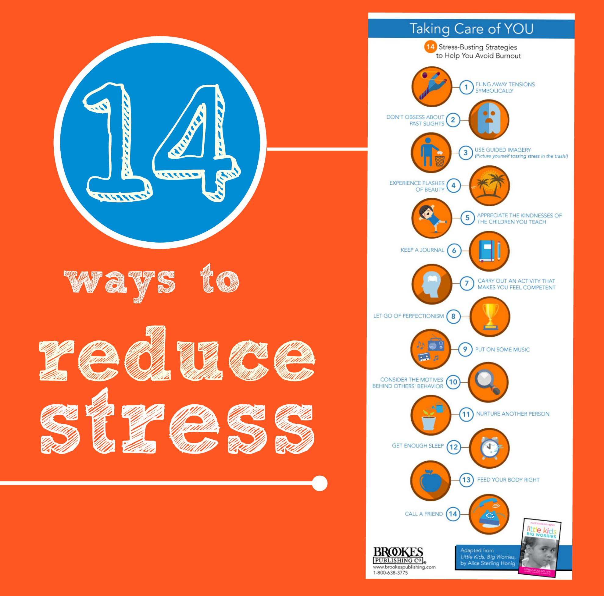 14 ways to reduce stress