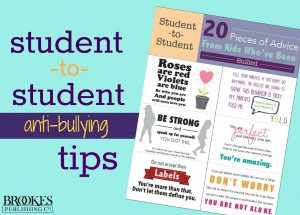 student to student anti-bullying tips Brookes Publishing Co.