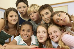 diverse kids in classroom