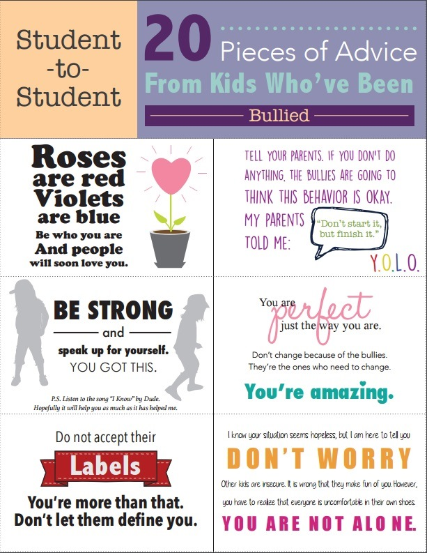 student messages to victims of bullying