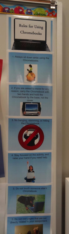 rules for using chrombooks
