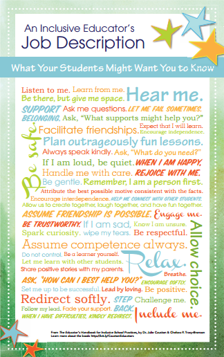 inclusive educators job description poster Julie Causton