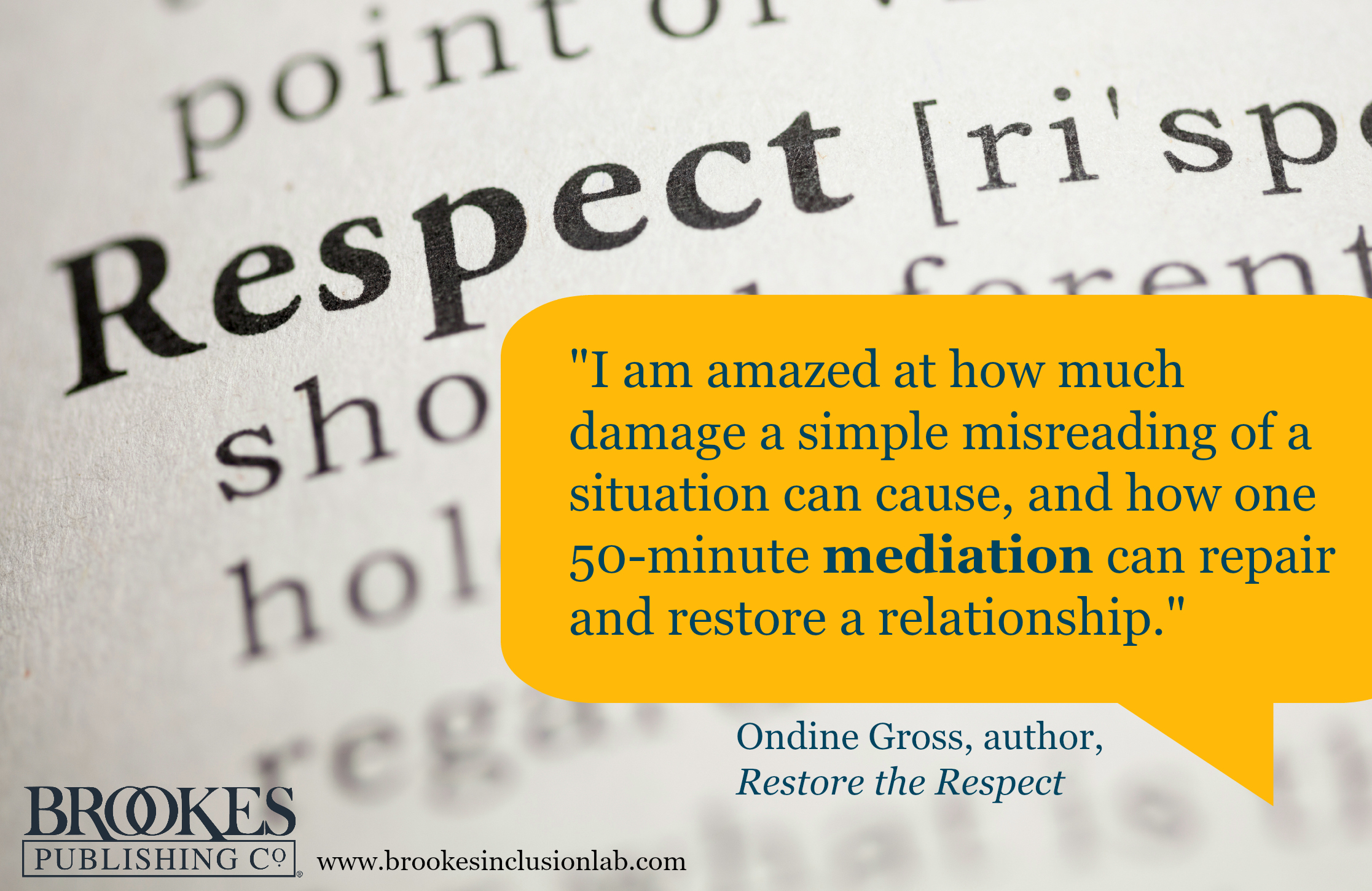 Ondine Gross Restore the Respect