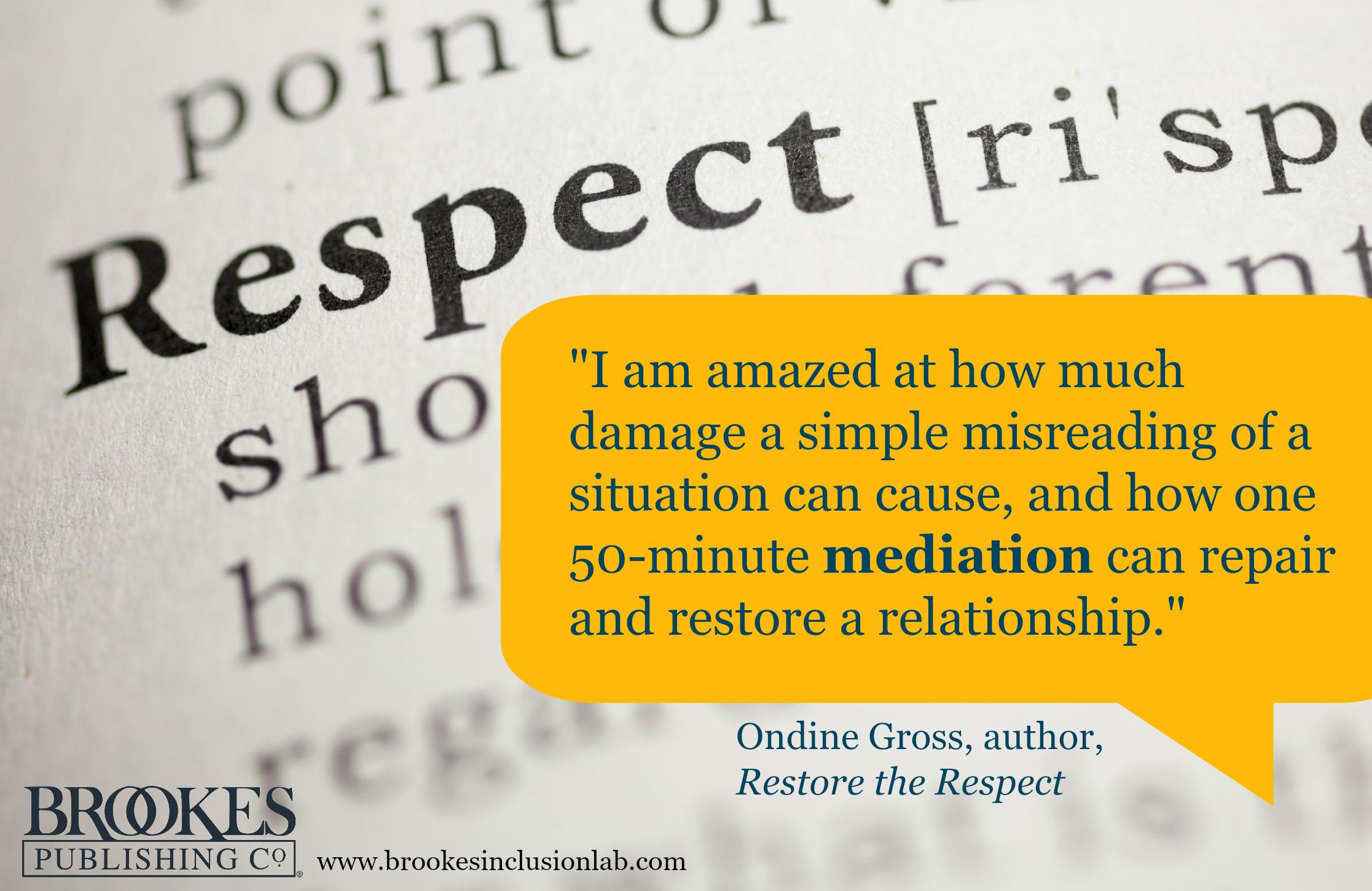 Ondine Gross Restore the Respect