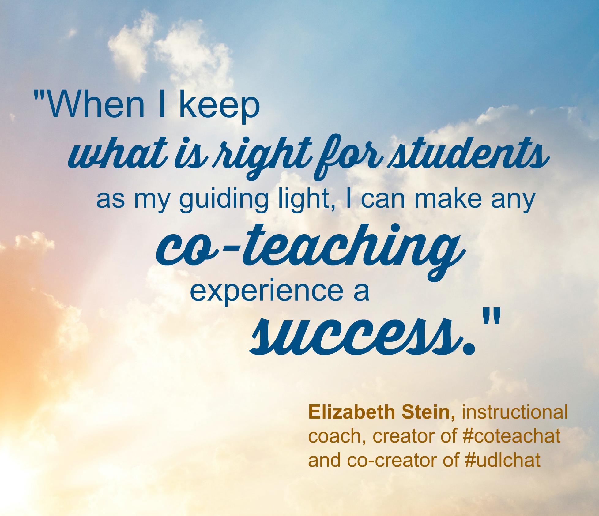 Elizabeth Stein co-teaching