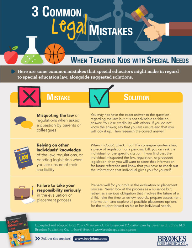 common legal mistakes special education law