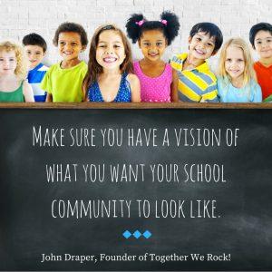 vision for school community quote John Draper