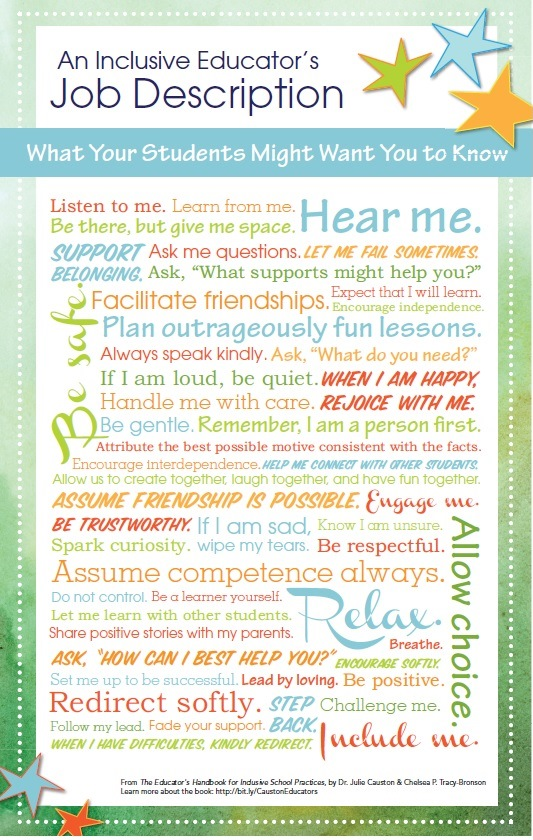 julie causton educator's poster inclusion