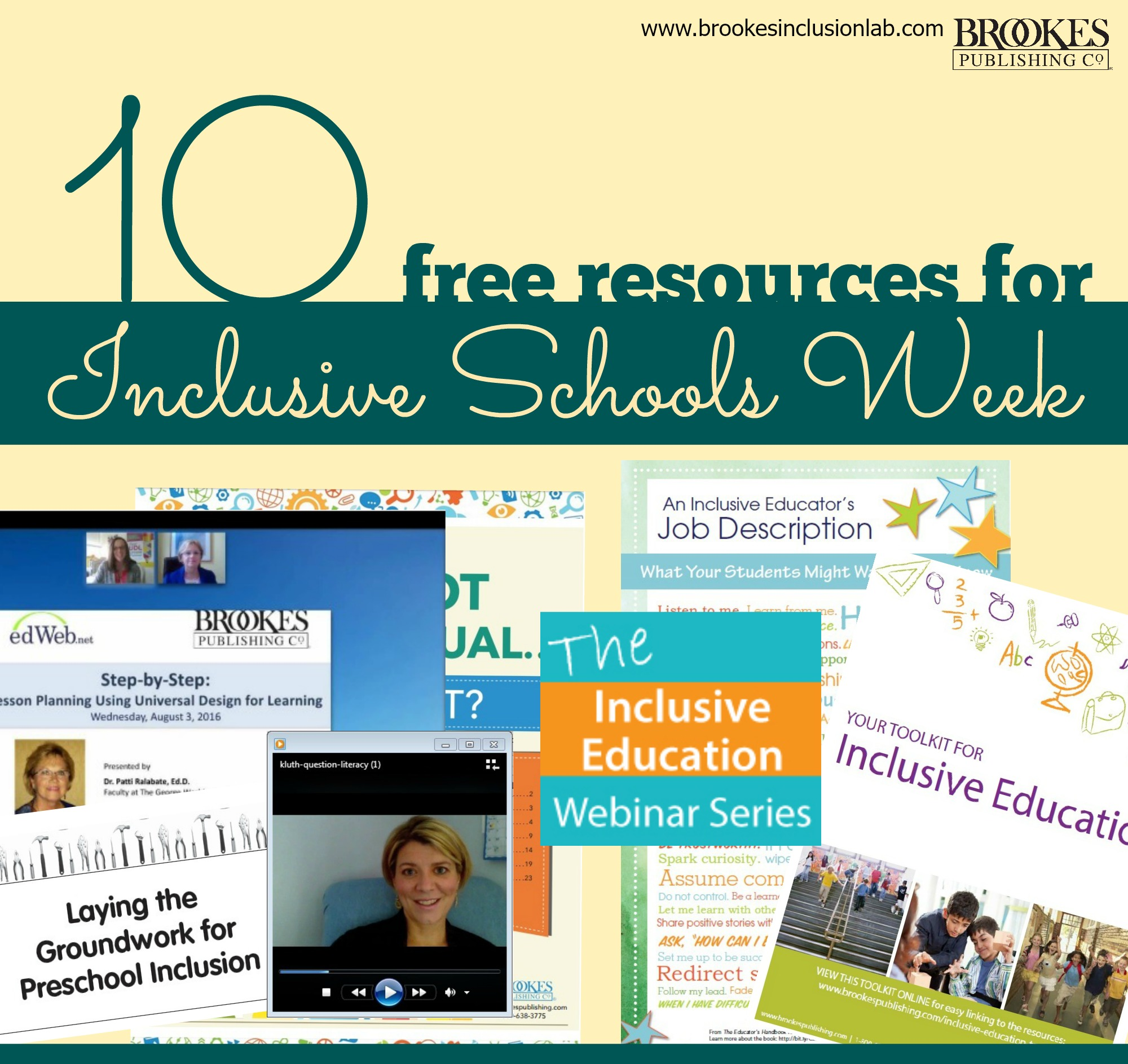 Our Top 10 Free Resources for Inclusive Schools Week (+ Signed Book Giveaway!)