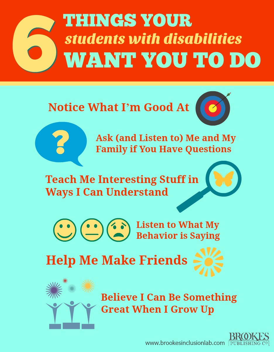 6 things your students with disabilities want you to do